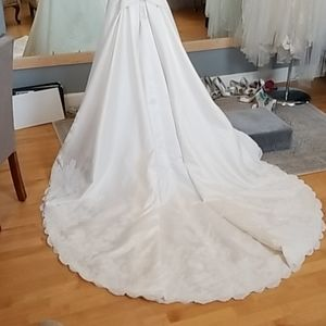 High end a-line wedding gown